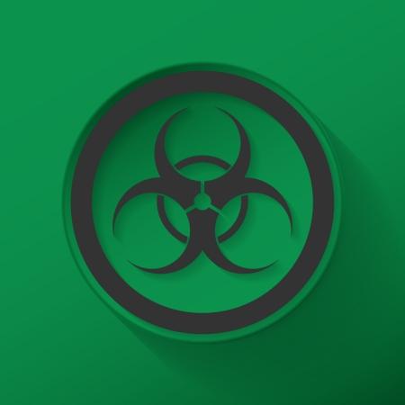 biological hazard: Sign biological hazard vector illustration flat icon design