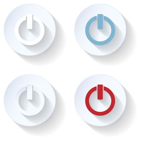 simbol: Off flat icon