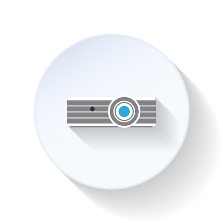 Projector flat icon design vector graphic illustration