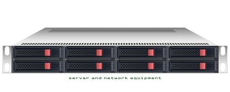 Server rackmount chassis vector grafische illustratie