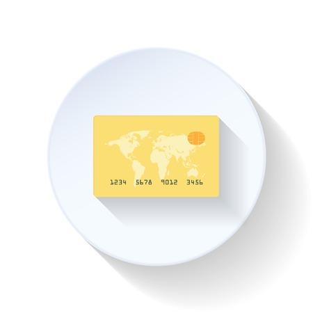 simbol: Carta di credito icona del piatto disegno vettoriale illustrazione grafica Vettoriali