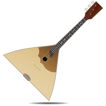 balalaika: The wood russian balalaika folk music instrument isolated on white background