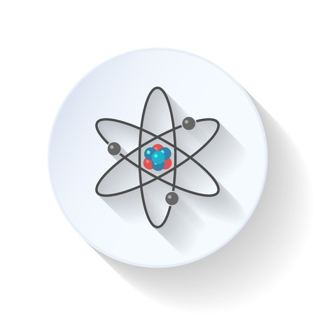 protons: Atom flat icon illustration vector graphic design