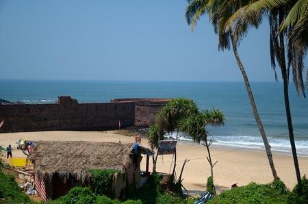 aguada: Old portugal defence structure fort Aguada, Goa, India Editorial