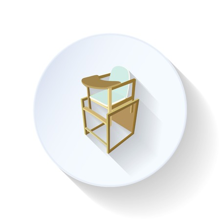 Table for feeding flat icon
