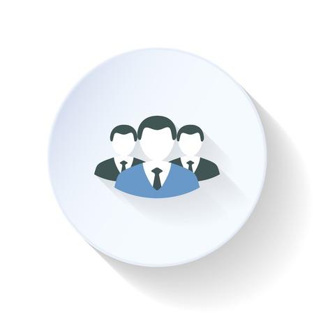superiors: Superiors and subordinates icon flat design vector graphic illustration
