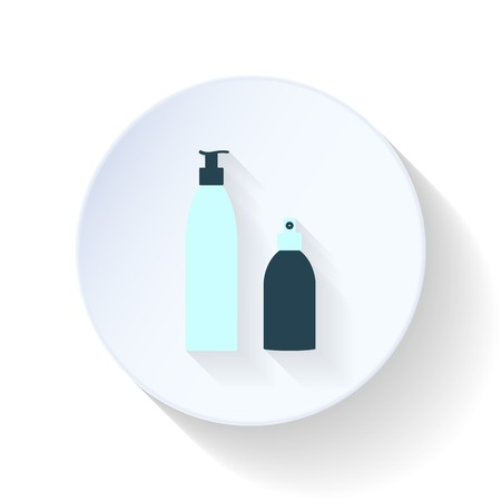 hairspray: Mousse and hairspray flat icon graphic illustration design