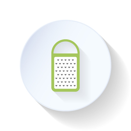 grater: Grater flat icon vector graphic illustration design Illustration