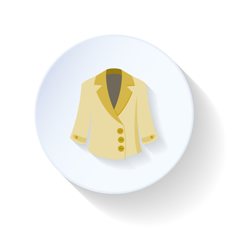 overcoat: Overcoat flat icon vector graphic illustration design