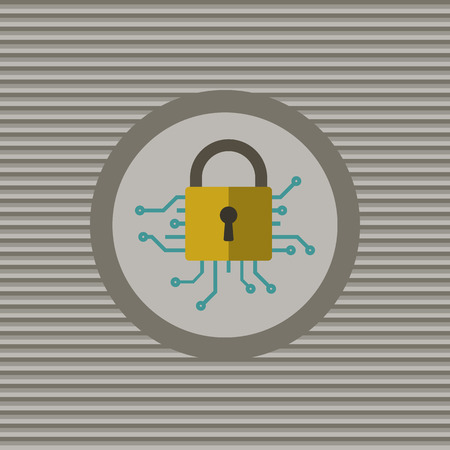 cyber security: Cyber security flat icon vector graphic design Illustration