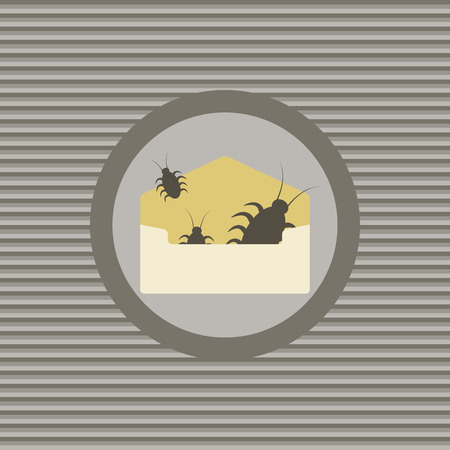 infected: Virus infected email vector graphic illustration design
