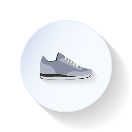 Sneakers flat icon vector graphic illustration design