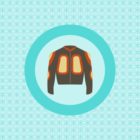 defence: Defence jacket for snowboarding flat icon graphic illustration