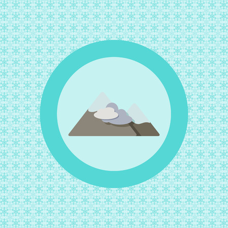 Mountains vacation flat icon graphic illustration design