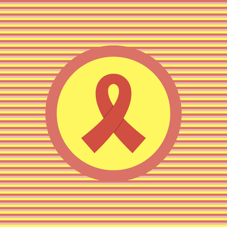 aids: AIDS color flat icon vector graphic illustration Illustration