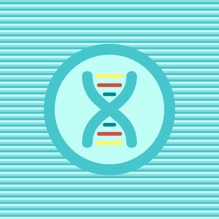 genome: DNA color flat icon vector graphic illustration