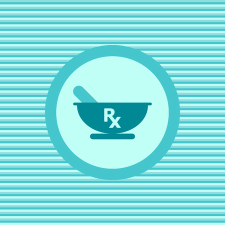 rx: Rx color flat icon vecto graphic illustration