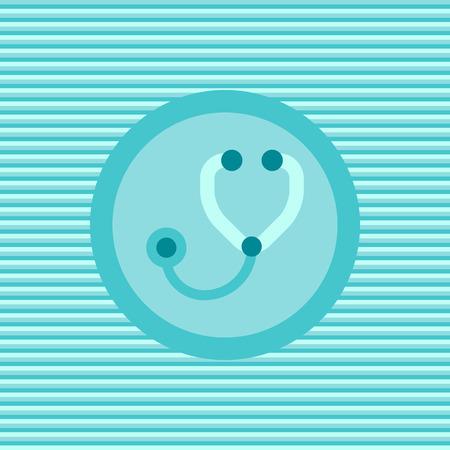 stetoscope: Stetoscope color flat icon vector graphic illustration