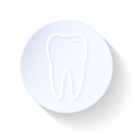 Teeth thin lines icon vector graphic illustration