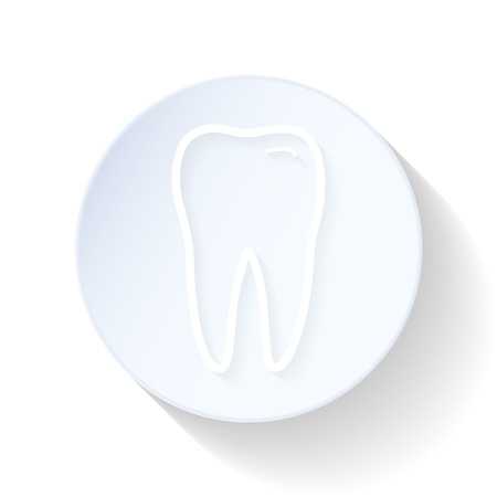 Teeth thin lines icon vector graphic illustration