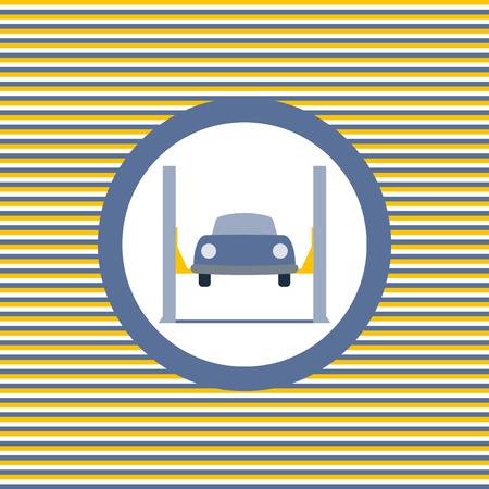car lift: Car lift color flat icon vector graphic illustration Illustration