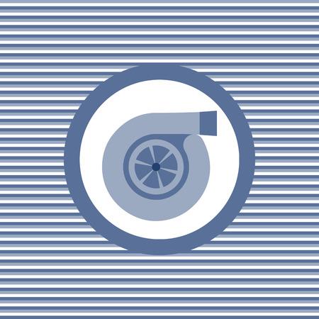 intake: Turbine color flat icon vector graphic illustration