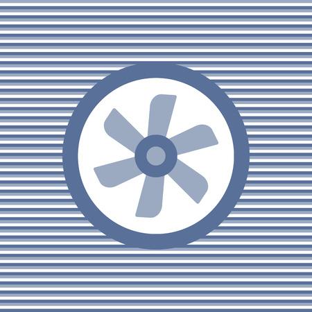 color fan: Car cooling fan color flat icon vector graphic illustration