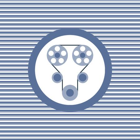 timing belt: Timing belt color flat icon vector graphic illustration