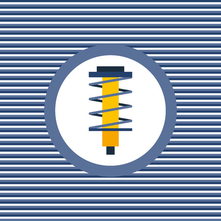 shock absorber: Shock absorber color flat icon graphic illustration