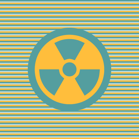 nuke: Radiation color flat icon graphic illustration