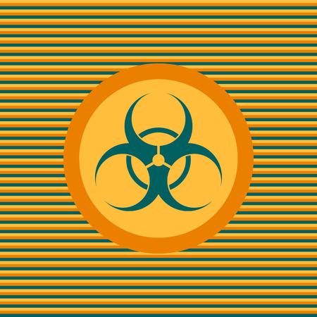 riesgo biologico: Icono plana de color Biohazard gráfico