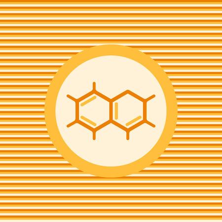 A molecule Chemical formula color flat icon graphic illustration Illustration