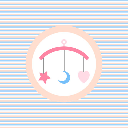 mobil: Children lullaby toy color flat icon vector graphic illustration