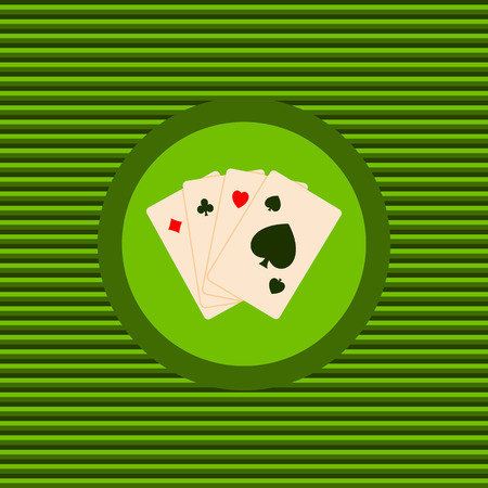 Play cards color flat icon vector graphic illustration
