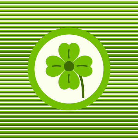 lucky clover: Lucky clover color flat icon vector graphic illustration Illustration