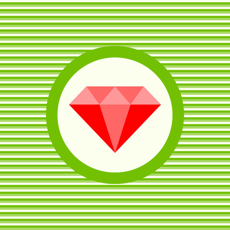 ruby: Ruby color flat icon vector graphic illustration
