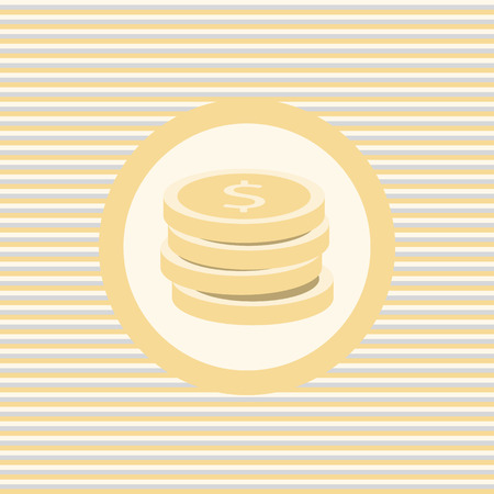 Coins color flat icon vector graphic illustration