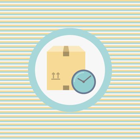 period: Delivery period color flat icon vector graphic illustration