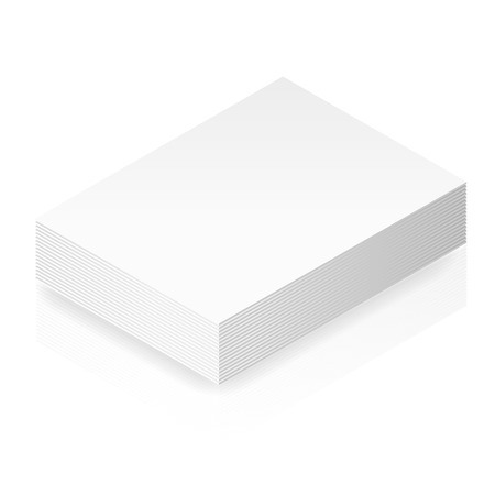paper stack: Isometric blank paper stack vector graphic illustration Illustration