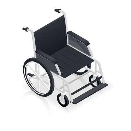 wheelchair: Wheelchair detailed isometric icon vector graphic illustration