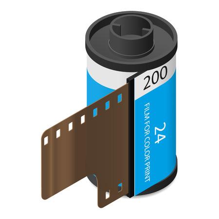 camera film: Camera film isometric icon
