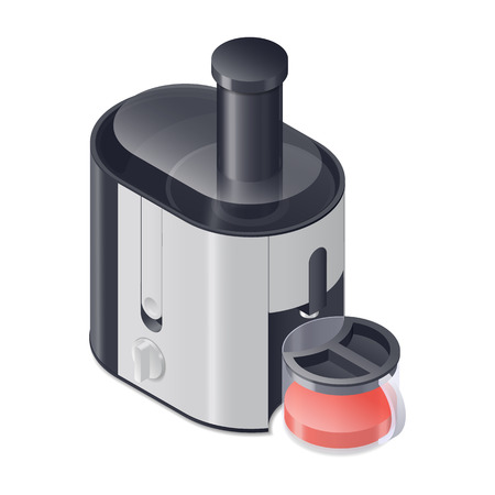 juicer: Juicer detailed isometric icon vector graphic illustration