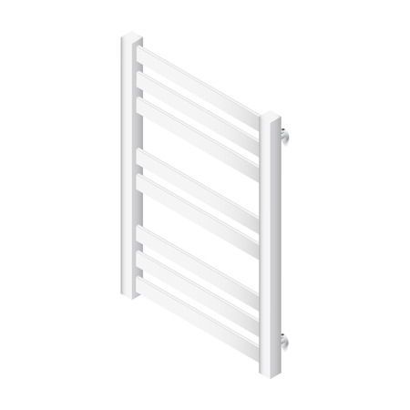 Heater towel rail isometric icon vector grasphic illustration