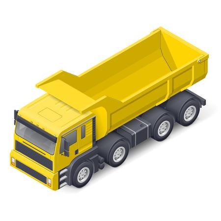 Tip truck isometric detailed icon vector graphic illustration design Illustration