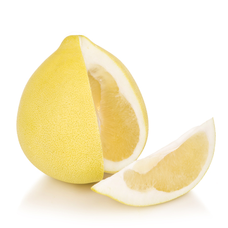 Fresh pomelo fruit isolated on white background