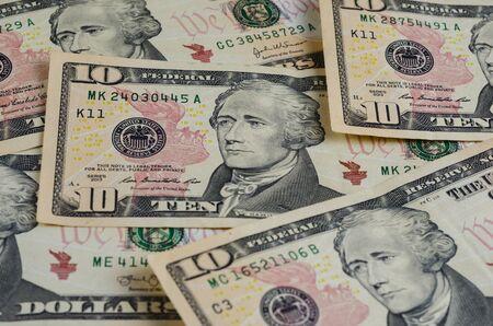 Background from money units of America 版權商用圖片 - 143887301