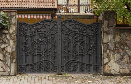 Decorative forged metal forged gates