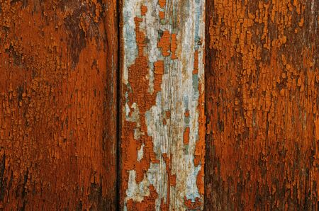 Old wooden painted orange background