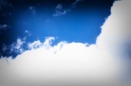 Beautiful blue sky with white clouds Stock Photo