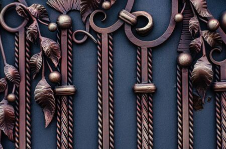Beautiful metal sheets on forged gates